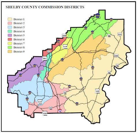 Image of Shelby County's districts
